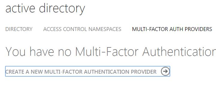 Azure AD Create MFA Provider